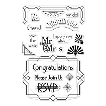 Hero Arts Clear Stamps DECO CELEBRATION CM348