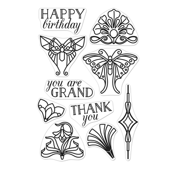 Hero Arts Clear Stamps DECO-RATIONS CM342