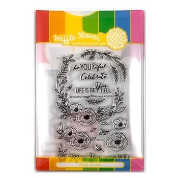 Waffle Flower BE YOU TIFUL COMBO Clear Stamps and Die Combo WFC224
