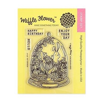 Waffle Flower TINY TERRARIUM Clear Stamps 271228
