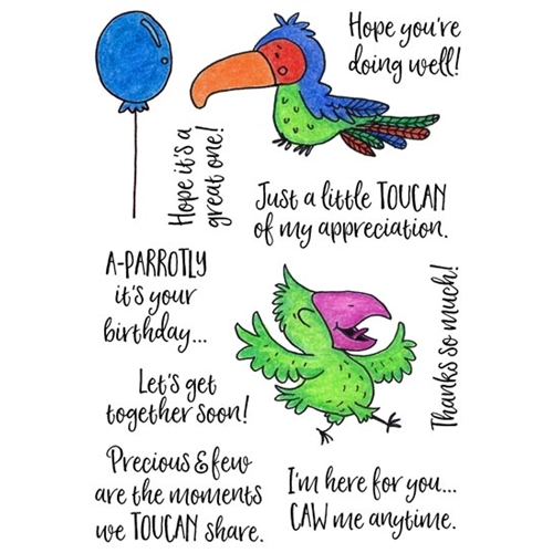 Inky Antics TROPICAL BIRDS Clear Stamp Set 11443mc Preview Image