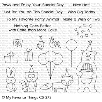 My Favorite Things BIRTHDAY BEAR AND FRIENDS Clear Stamps CS373