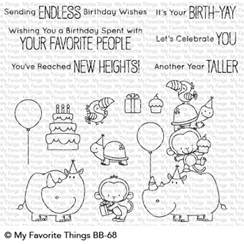 My Favorite Things BIRTH-YAY Clear Stamps BB68