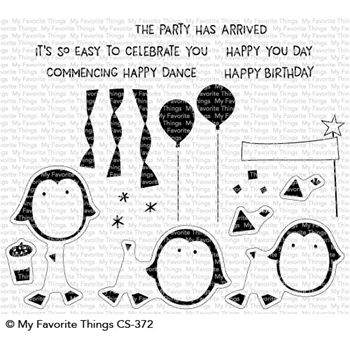 My Favorite Things PARTY PENGUINS Clear Stamps CS372