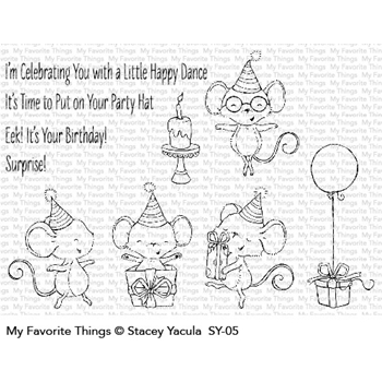 My Favorite Things IT'S A MICE TIME TO CELEBRATE Clear Stamps SY05
