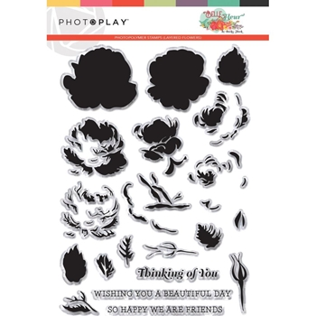 PhotoPlay BELLE FLEUR LAYERED FLOWER Clear Stamps blf9271