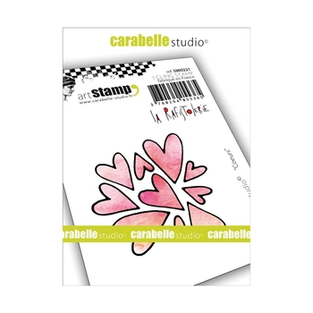 Carabelle Studio HEARTS Cling Stamp smi0221