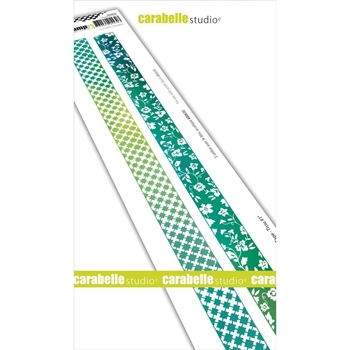 Carabelle Studio WASHI TAPE FABRIC 1 Edge Cling Stamps sed0029