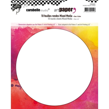 Carabelle Studio 10 ROUND SHEETS MIXED MEDIA Paper paro60001