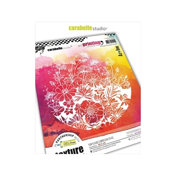 Carabelle Studio HERITAGE OF TANGY FLOWERS Art Printing Texture Plate Round apro60018