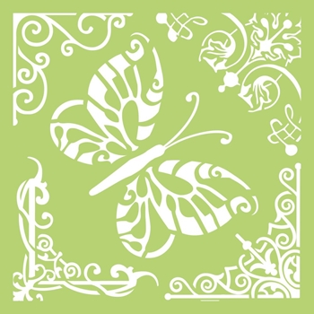 Kaisercraft BUTTERFLY CORNERS 6x6 Inch Designer Stencil Template IT484