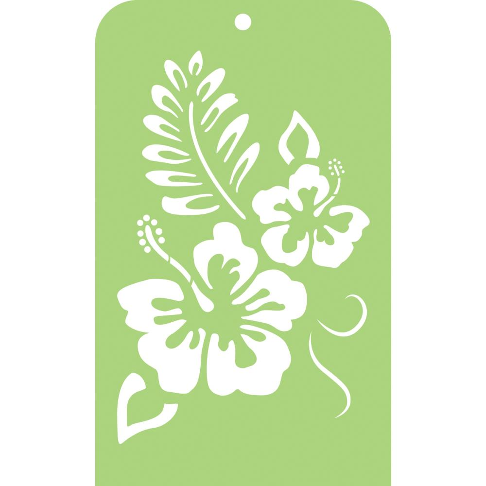 Kasiercraft HIBISCUS Mini Designer Stencil Template IT050