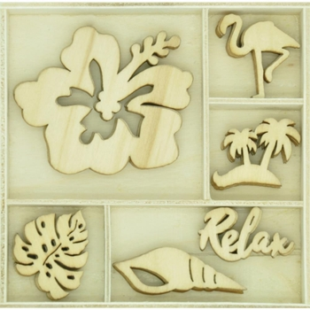 Kaisercraft RELAX Wooden Shapes Flourish Pack FL643