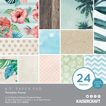 Kaisercraft PARADISE FOUND 6.5 Inch Paper Pad PP1062