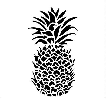 The Crafter's Workshop SMALL PINEAPPLE 6x6 Template tcw848s