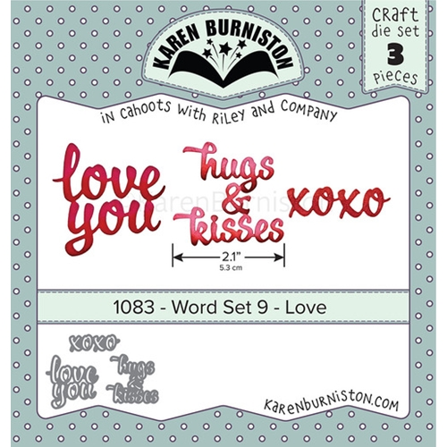 Karen Burniston WORD SET 9 LOVE Dies 1083 Preview Image