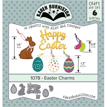 Karen Burniston EASTER CHARMS Dies 1078