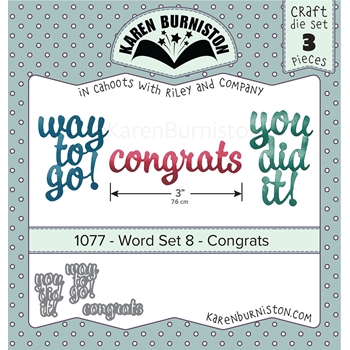 Karen Burniston WORD SET 8 CONGRATS Dies 1077