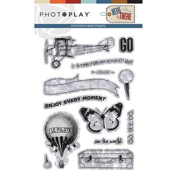 PhotoPlay HERE AND THERE Clear Stamps hat9298