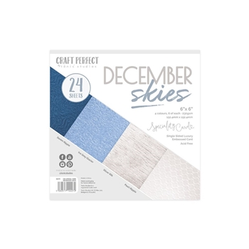 Tonic DECEMBER SKIES Craft Perfect Luxury Embossed 6 x 6 Card Pack 9427e