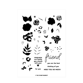 The Stamp Market BLOSSOM PARTY Clear Stamp Set tsm095