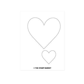 The Stamp Market TWO HEART Die Set tsm2053