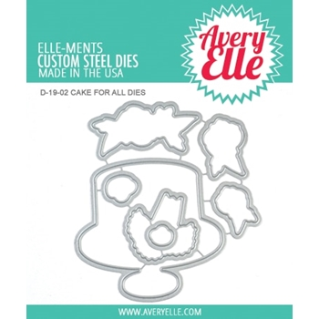 Avery Elle Steel Dies CAKE FOR ALL D-19-02