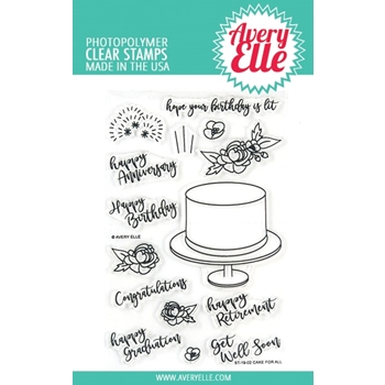 Avery Elle Clear Stamps CAKE FOR ALL  ST-19-02