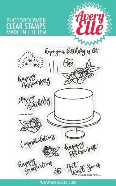 Avery Elle Clear Stamps CAKE FOR ALL  ST-19-02 zoom image