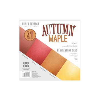Tonic AUTUMN MAPLE Craft Perfect Pearlescent 6 x 6 Card Pack 9416e