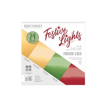 Tonic FESTIVE LIGHTS Craft Perfect Mirror 6 x 6 Card Pack 9406e