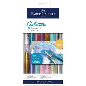 Faber-Castell IRIDESCENTS II 15 PIECE GELATOS Set 770177