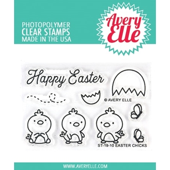 Avery Elle Clear Stamps EASTER CHICKS ST-19-10
