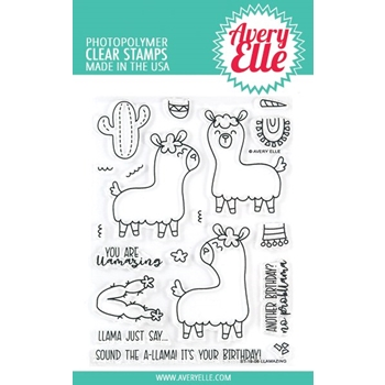 Avery Elle Clear Stamps LLAMAZING ST-19-06