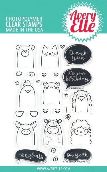 Avery Elle Clear Stamps PEEK A BOO PETS ST-19-08 zoom image