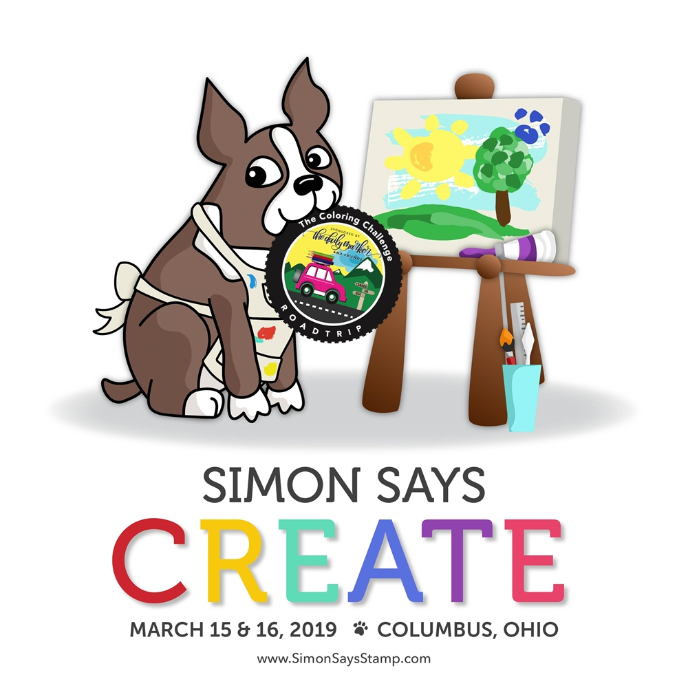 Simon Says Create DAILY MARKER ROAD TRIP Ticket sssdm19 zoom image