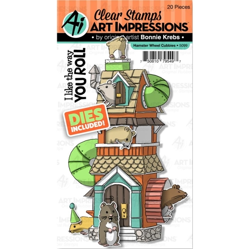 Art Impressions HAMSTER WHEEL CUBBIES Clear Stamps and Dies 5099 Preview Image