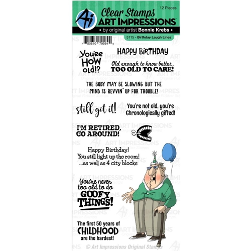 Art Impressions BIRTHDAY LAUGH LINES Clear Stamps 5115 Preview Image