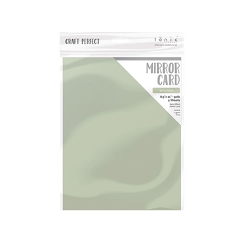 Tonic SPRING SILVER Mirror Card Satin Effect Cardstock 9492e