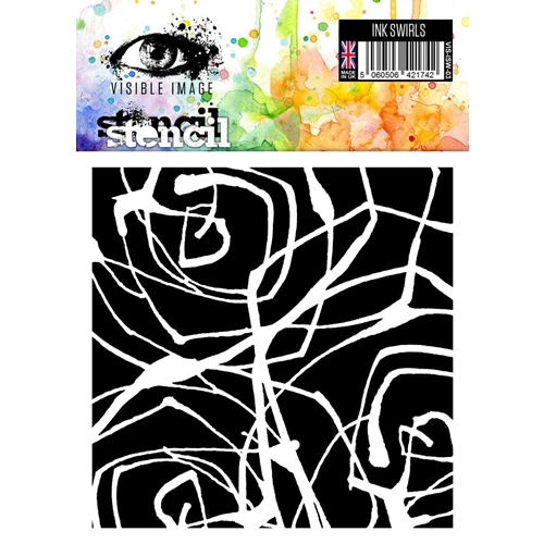 Visible Image INK SWIRLS Stencil VIS-ISW-03 Preview Image