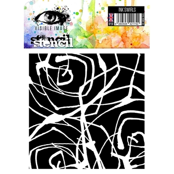 Visible Image INK SWIRLS Stencil VIS-ISW-03