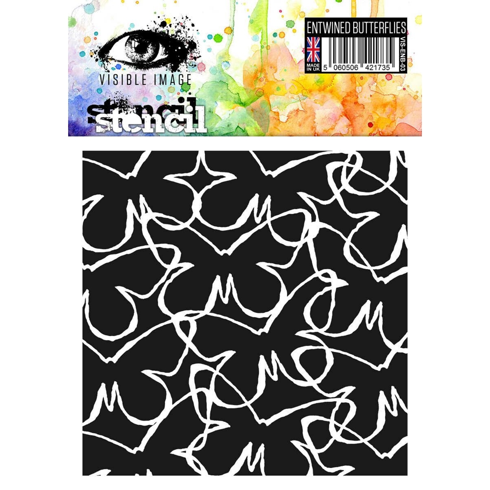 Visible Image ENTWINED BUTTERFLIES Stencil VIS-ENB-03 zoom image