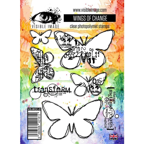 Visible Image WINGS OF CHANGE Clear Stamps VIS-WOC-01 Preview Image
