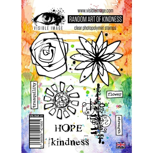 Visible Image RANDOM ART OF KINDNESS Clear Stamps VIS-RAK-01 Preview Image