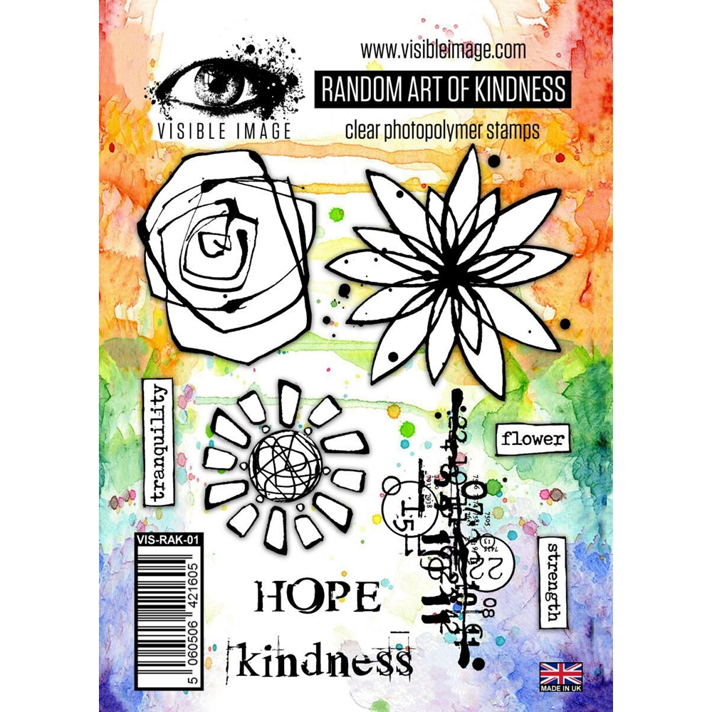 Visible Image RANDOM ART OF KINDNESS Clear Stamps VIS-RAK-01 zoom image