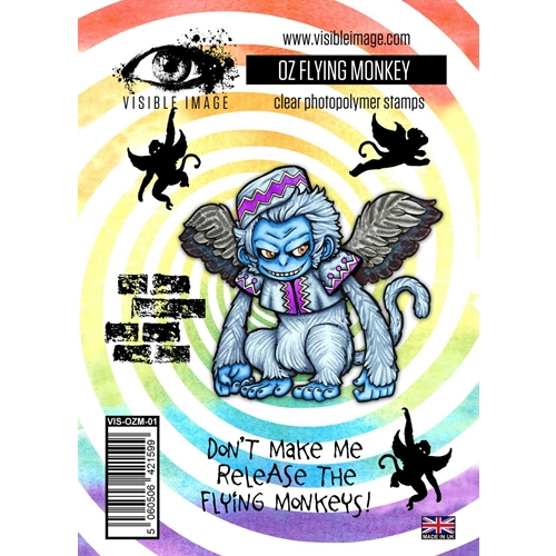 Visible Image OZ FLYING MONKEY Clear Stamps VIS-OZM-01 Preview Image