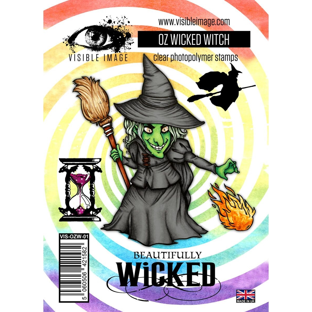 Visible Image OZ WICKED WITCH Clear Stamps VIS-OZW-01 zoom image