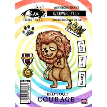 Visible Image OZ COWARDLY LION Clear Stamps VIS-OZL-01