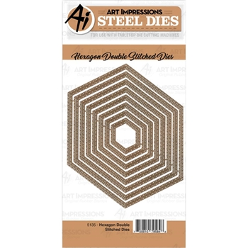 Art Impressions HEXAGON DOUBLE STITCHED Dies 5135