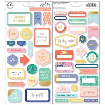 Pinkfresh Studio JOYFUL DAY Cardstock Stickers pfrc200519